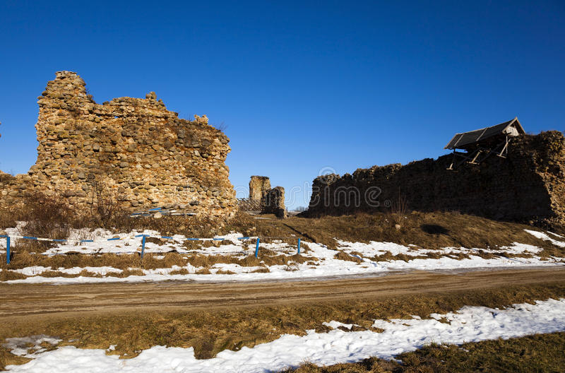 Ruiny Krevo, Białoruś obrazy stock