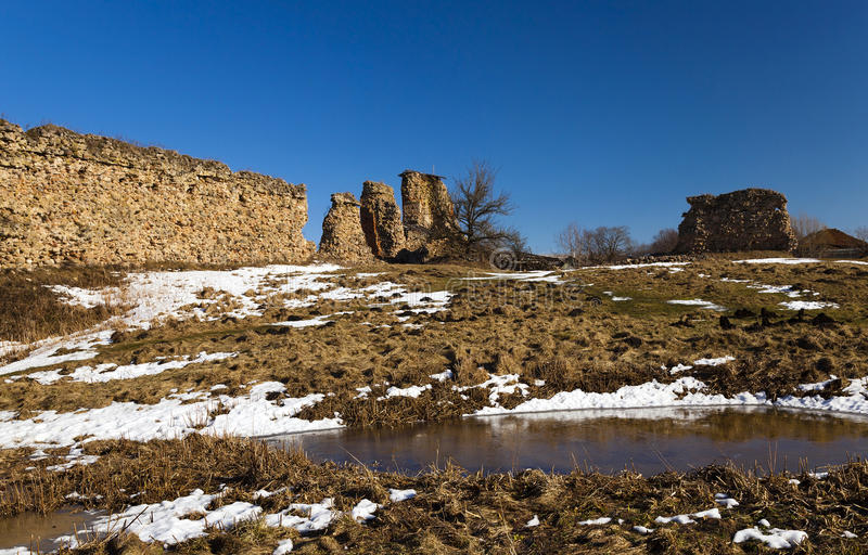 Ruiny Krevo Białoruś obraz stock
