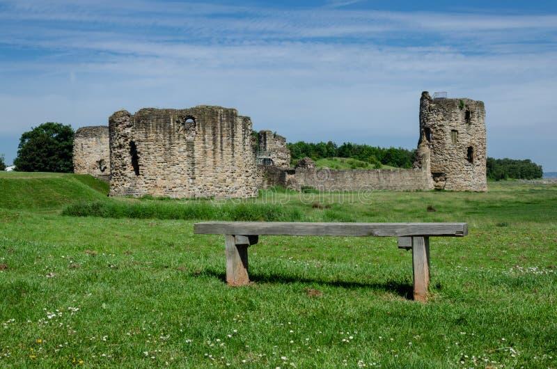 Ruiny krzemienia kasztel obraz royalty free