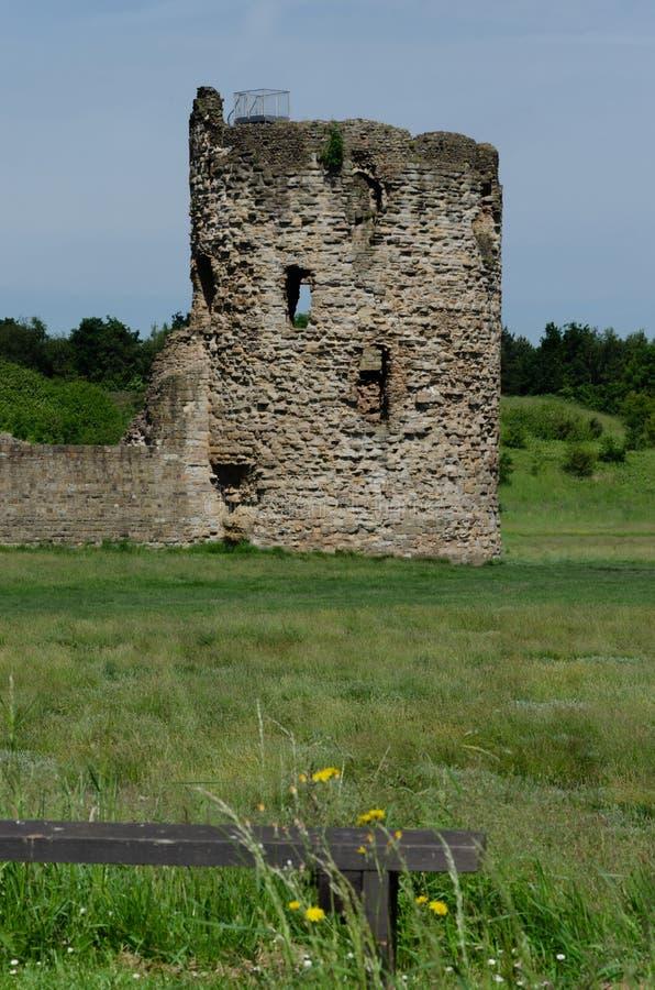 Ruiny krzemienia kasztel zdjęcie royalty free