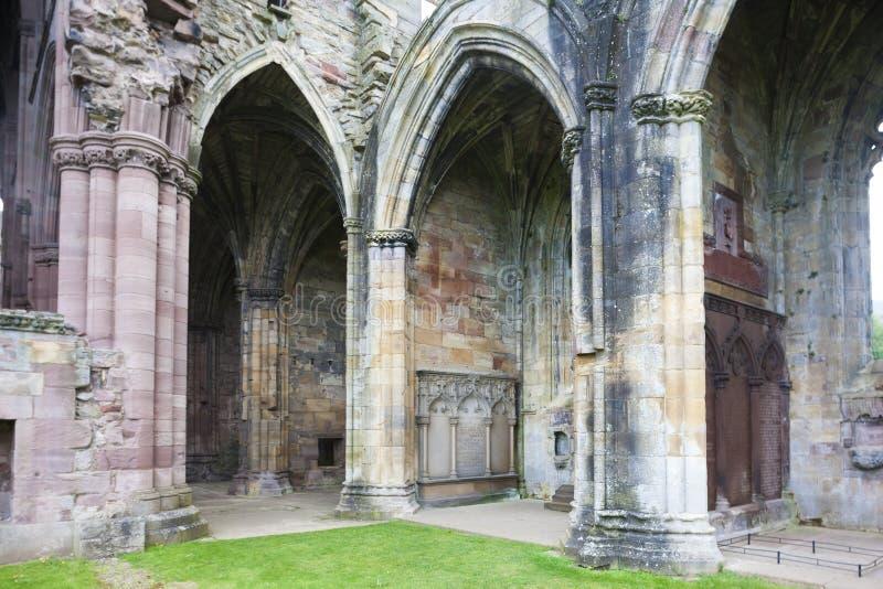 ruiny Melrose opactwo, Szkockie granicy, Szkocja zdjęcie stock