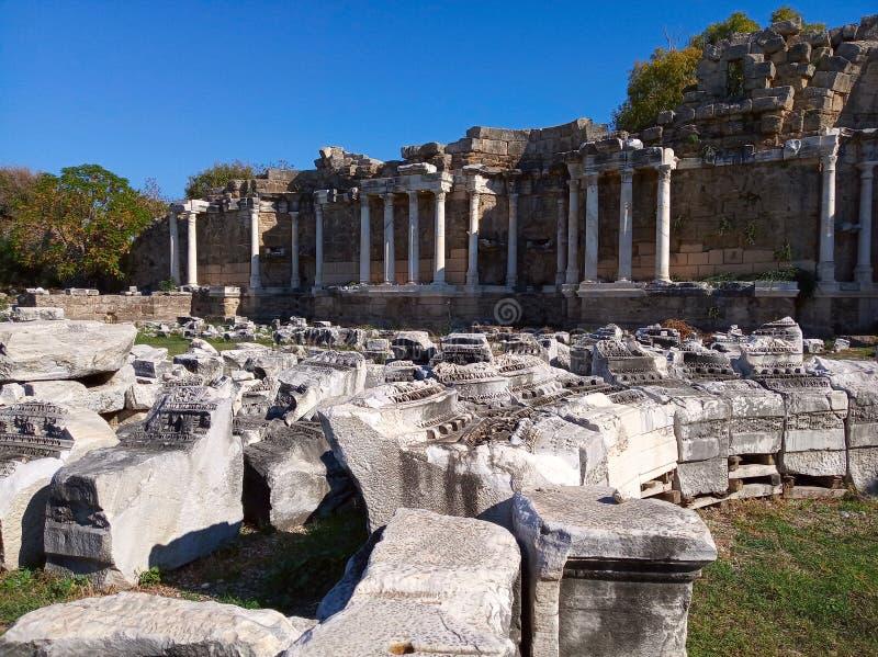 Ruiny miasta Side, Turcja obraz royalty free