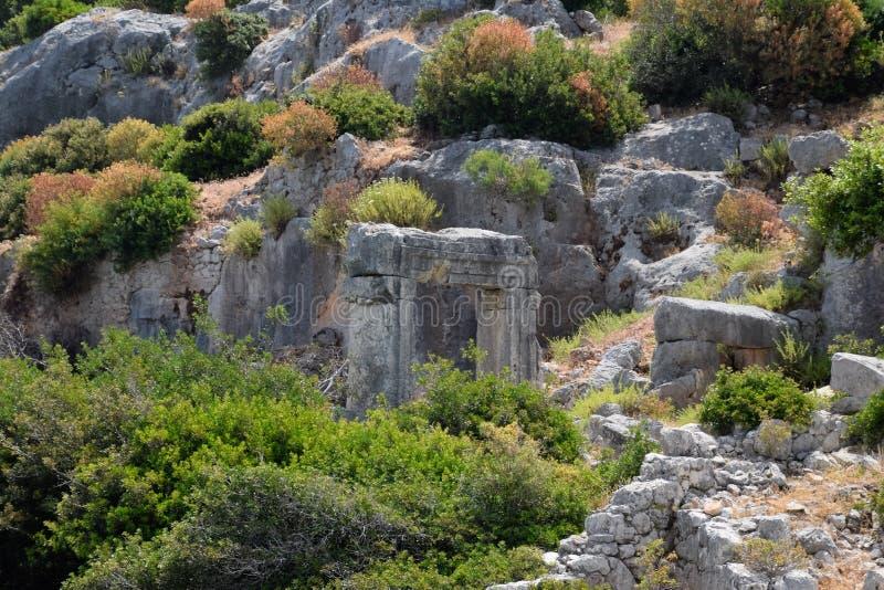 Ruiny miasto Mira, Kekova obraz royalty free