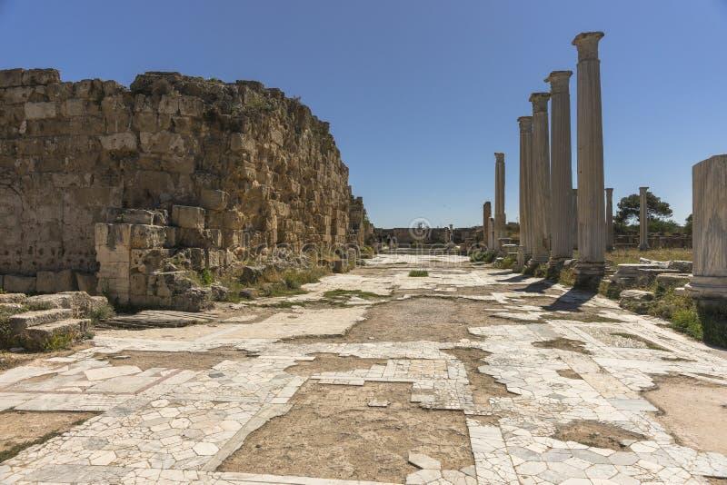 Ruiny miasto salami w Famie, Cypr obraz royalty free