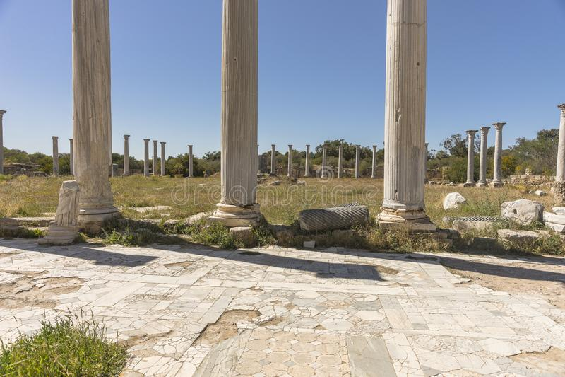 Ruiny miasto salami w Famie, Cypr obraz stock