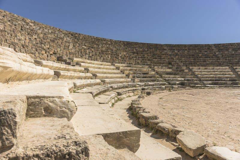 Ruiny miasto salami w Famie, Cypr obrazy stock