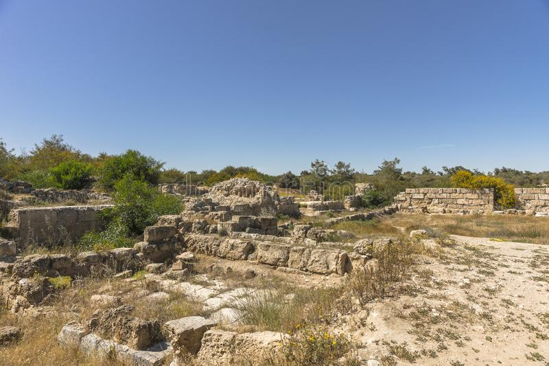Ruiny miasto salami w Famie, Cypr fotografia royalty free