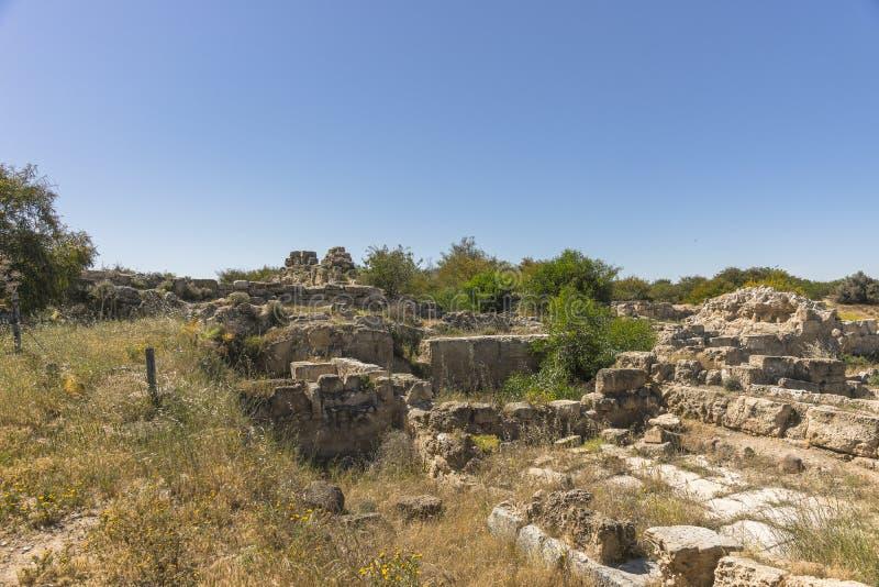 Ruiny miasto salami w Famie, Cypr fotografia stock
