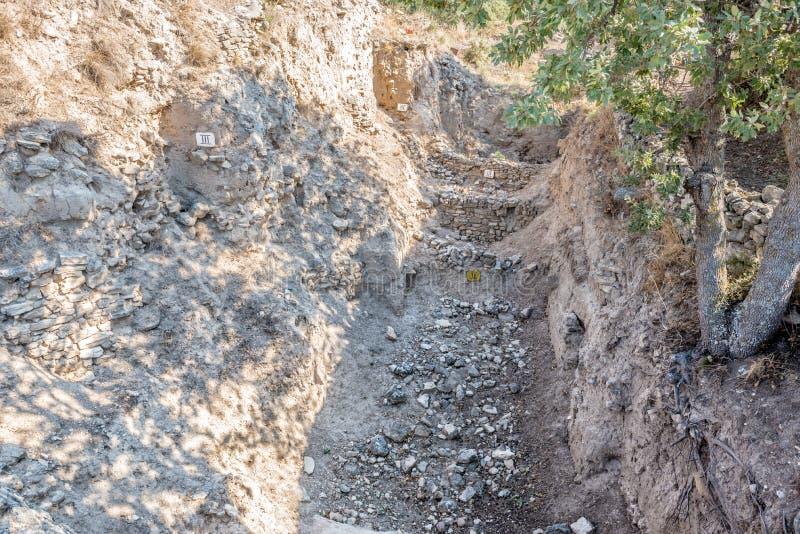 Ruiny miasto Troja w Canakkale obraz stock