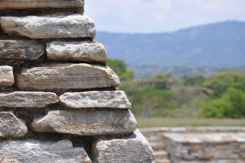 Ruiny Mixco Viejo, Gwatemala zdjęcia royalty free