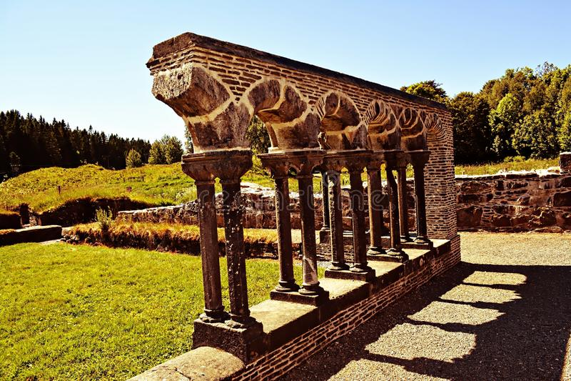 Ruiny monaster fotografia stock