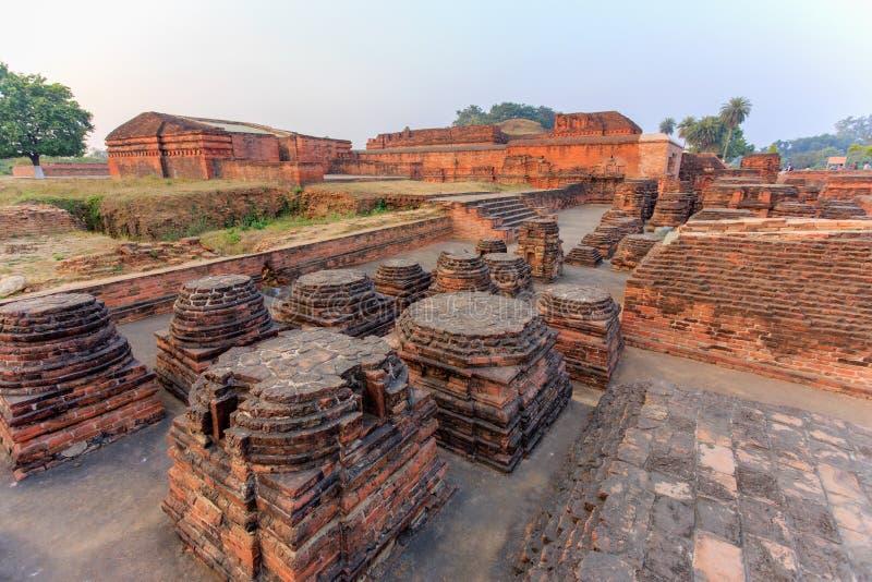 Ruiny Nalanda Mahavihara zdjęcia royalty free