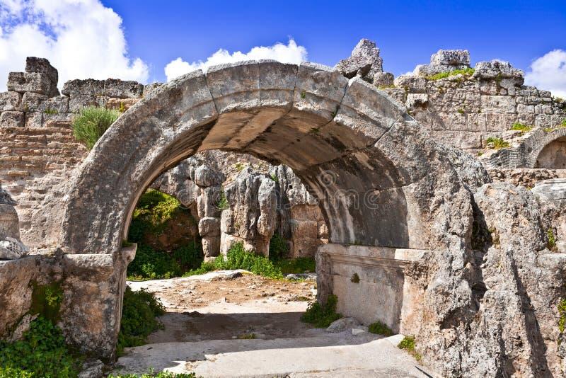Ruiny Perge antyczny Anatolian miasto w Turcja zdjęcia royalty free