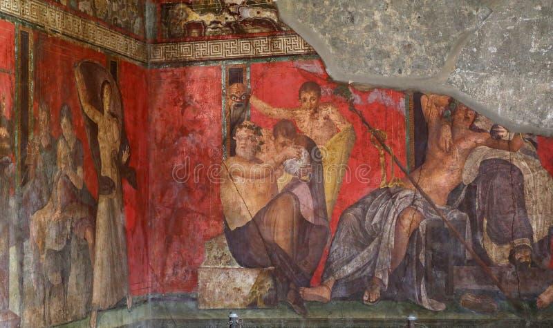 Ruiny Pompei, blisko Naples, Włochy zdjęcia royalty free