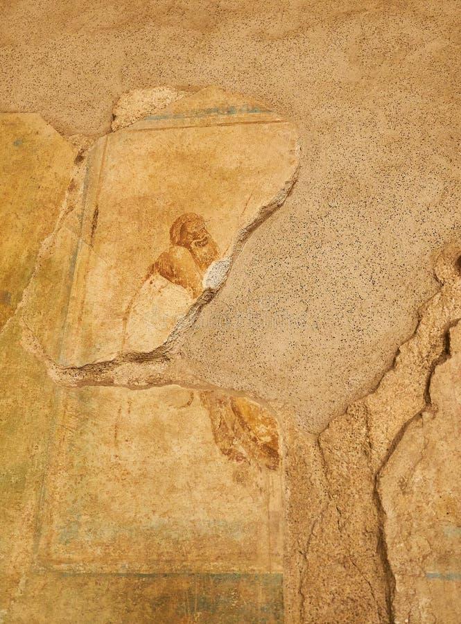 Ruiny Pompeii, antyczny Romański miasto Pompei, Campania Włochy zdjęcie royalty free