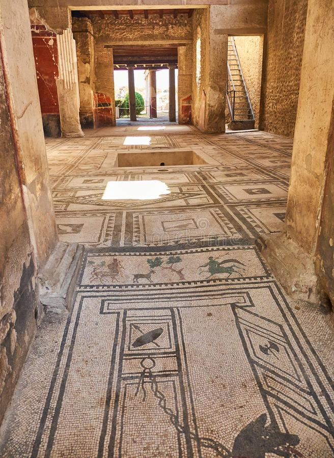 Ruiny Pompeii, antyczny Romański miasto Pompei, Campania Włochy obrazy royalty free