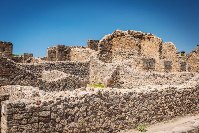 Ruiny Pompeii blisko Naples, Włochy, zdjęcia royalty free