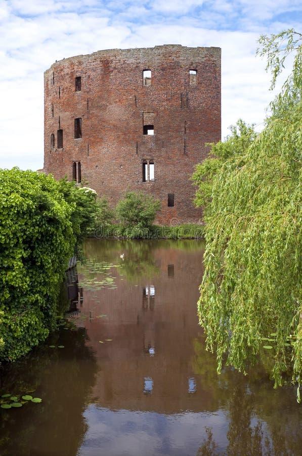 Ruiny poprzedni holender roszują Teylingen fotografia stock