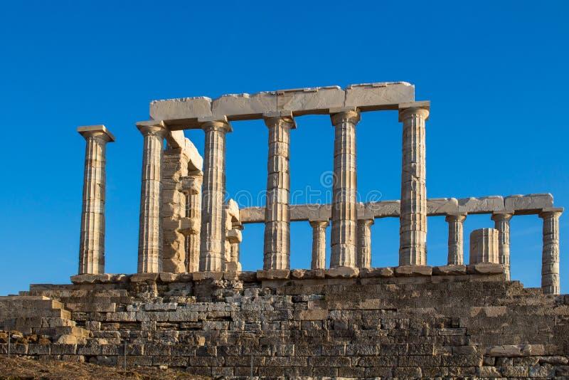 Ruiny Poseidon świątynia, Grecja fotografia royalty free