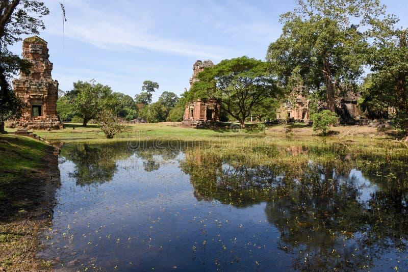 Ruiny Preah Khan przy Angkor Thom na Siemreap obrazy stock