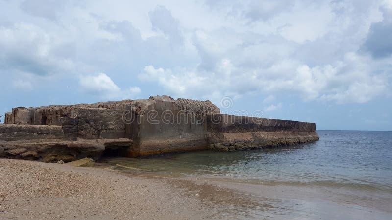 Ruiny przy KKS plażą obrazy royalty free
