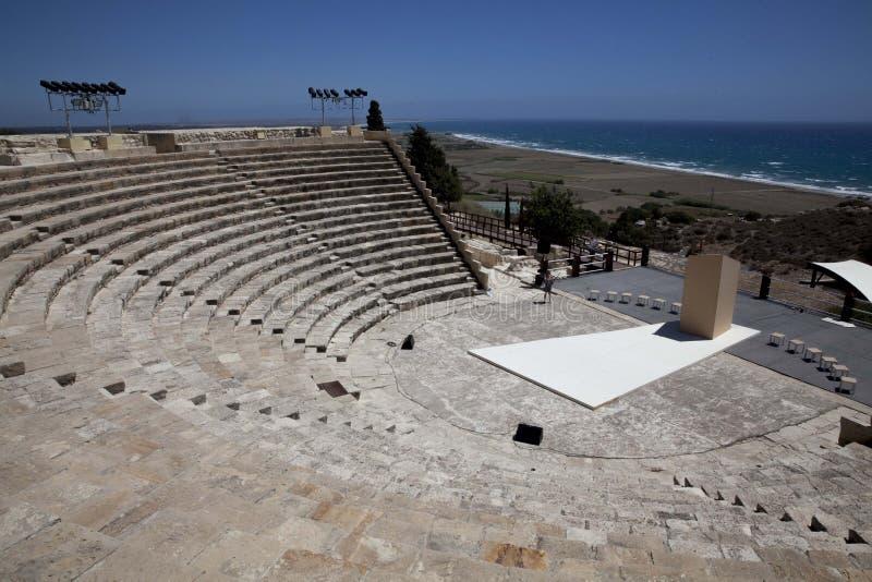 Ruiny przy Kourion, Cypr zdjęcie royalty free