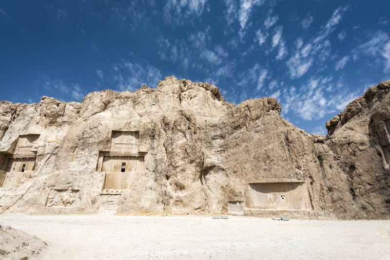 Ruiny przy Persepolis dziejowym miastem, Shiraz, Iran Wrzesień 12, 2016 obraz stock