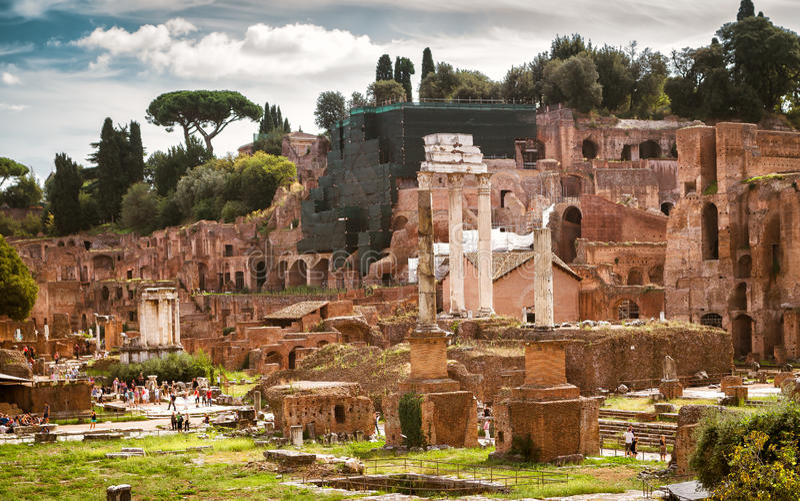 Ruiny Romański forum, Rzym zdjęcia royalty free