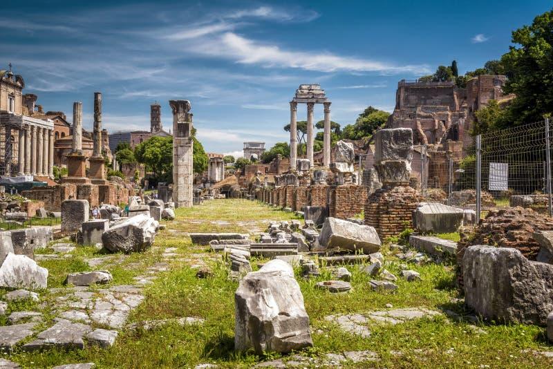 Ruiny Romański forum w Rzym obrazy stock