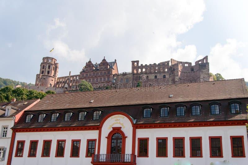 Ruiny sławny kasztel w Heidelberg, Niemcy zdjęcia stock