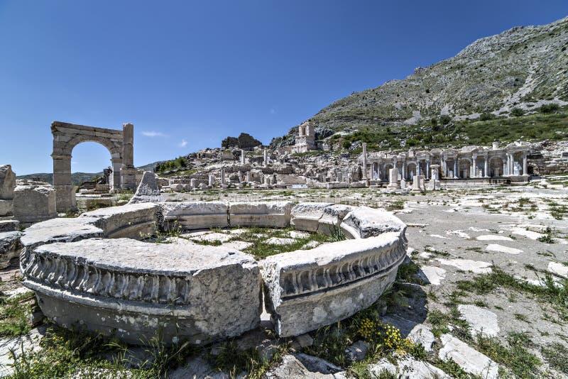 Ruiny Sagalassos w Isparta, Turcja zdjęcia royalty free