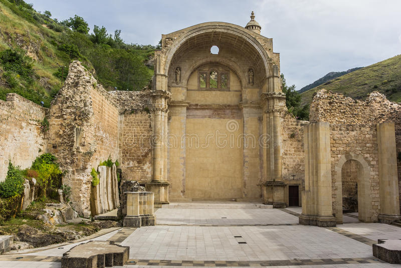 Ruiny Santa Maria kościół obrazy royalty free