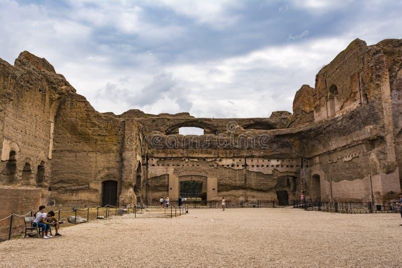 Ruiny skąpania Caracalla, Terme - Di Caracalla obraz stock