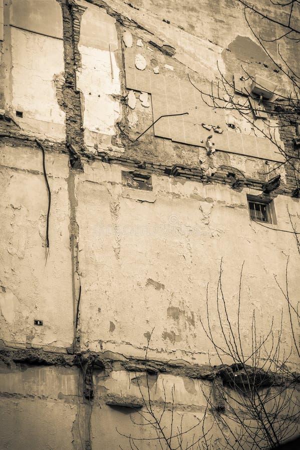 Ruiny stary budynku usunięcie obrazy stock