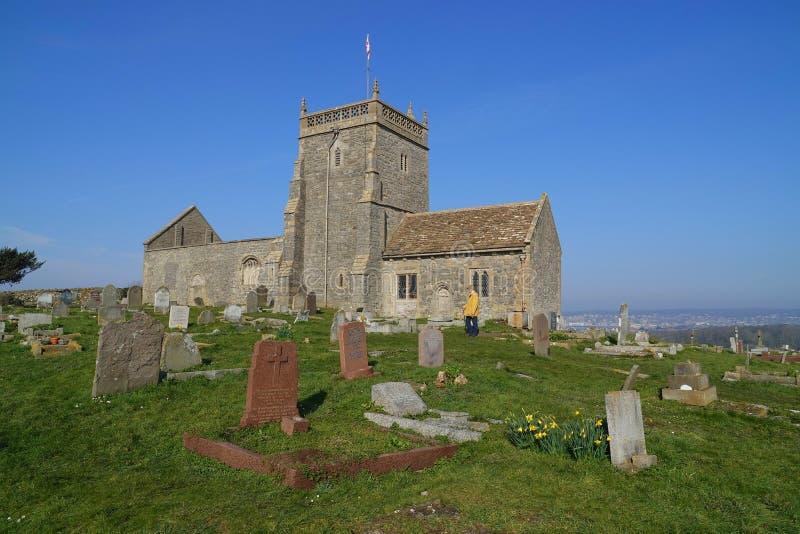 Ruiny stary kościół i cmentarz obrazy royalty free