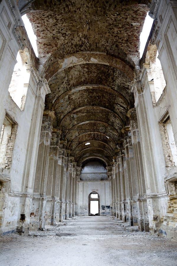 Ruiny stary kościół katolicki w Lemanskoe, Odessa (stary Leipzig) zdjęcia royalty free