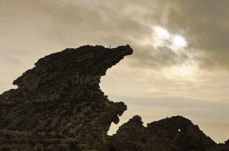 Ruiny stary rzymski miasto Nora, wyspa Sardinia obraz stock
