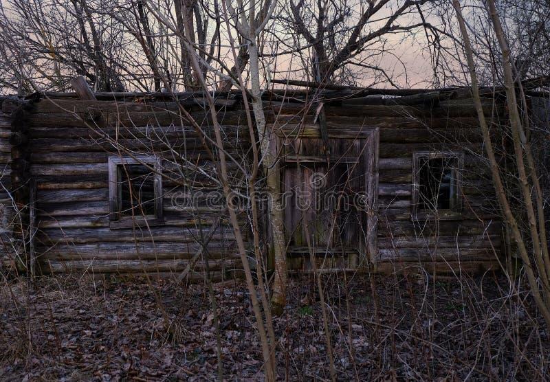 Ruiny stary wioska dom obraz stock