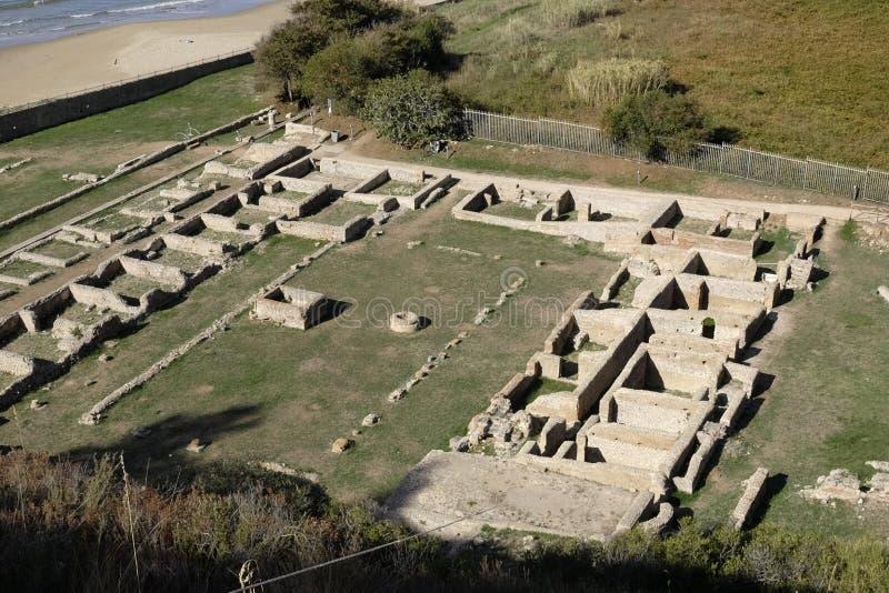 Ruiny tiberian willa obrazy stock
