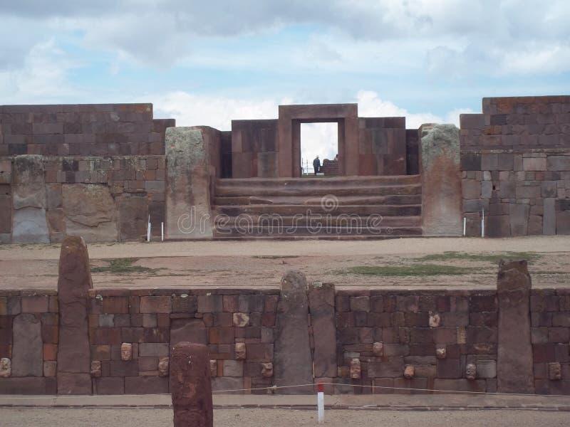 Ruiny Tiwanaku zdjęcie stock