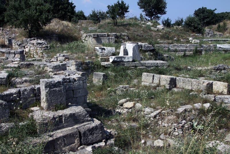 Ruiny Troja zdjęcia royalty free