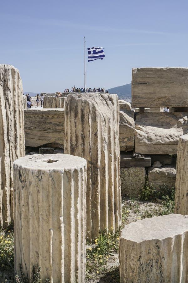 Ruiny w Ateńskim akropolu w Ateny, Grecja obrazy stock