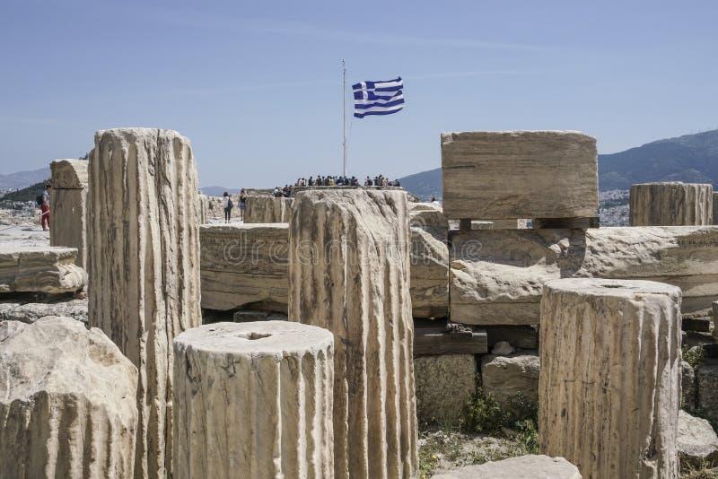 Ruiny w Ateńskim akropolu w Ateny, Grecja fotografia royalty free