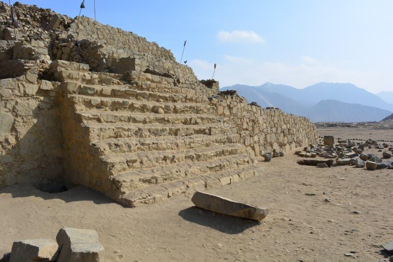 Ruiny w Caral-Supe, Peru fotografia royalty free