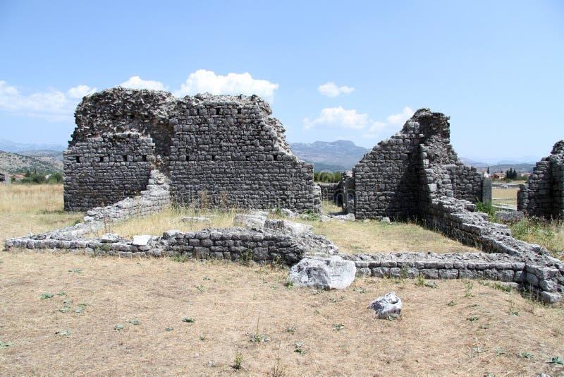 Ruiny w Duclea zdjęcie stock