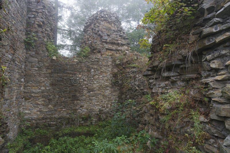 Ruiny w mgle zdjęcia stock