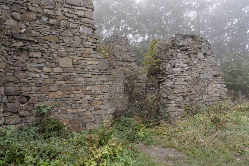 Ruiny w mgle obraz royalty free