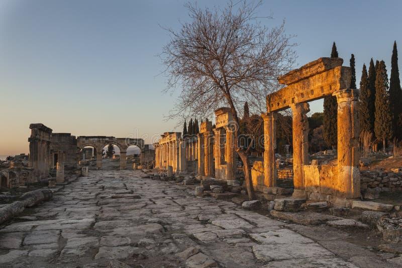 Ruiny w Pamukkale fotografia royalty free