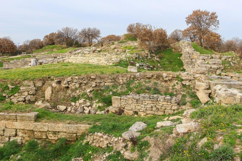 Ruiny w Troja Turcja fotografia stock