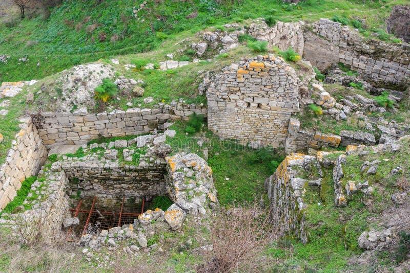 Ruiny w Troja Turcja zdjęcia stock